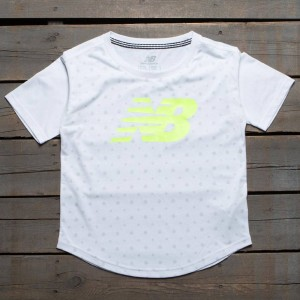 New Balance Women Trackster SS Top Tee (white)