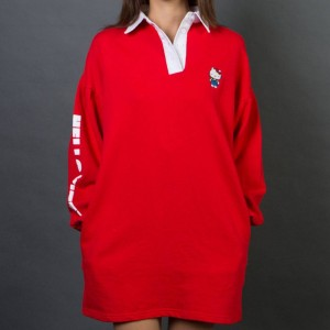 Lazy Oaf x Hello Kitty Women Rugby Dress (red)