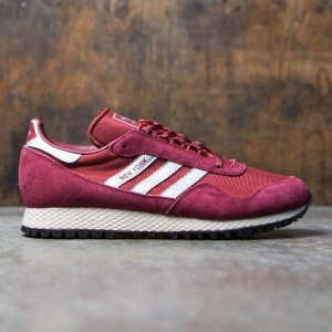 Adidas Men New York Trainers (burgundy / metallic silver / mystery red)