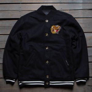 Acapulco Gold Men Flying Tiger Baseball Jacket (black)