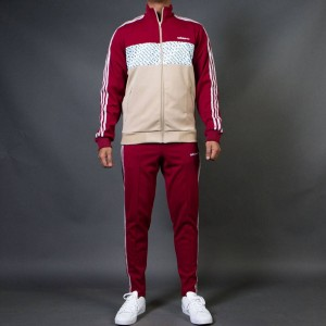 Adidas Consortium x United Arrows And Sons Men Track Suit (burgundy)