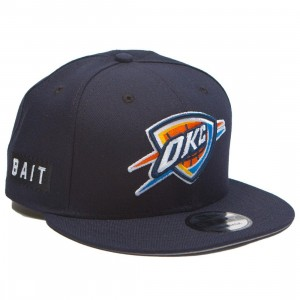 BAIT x NBA X New Era 9Fifty Oklahoma City Thunder OTC Snapback Cap (navy)