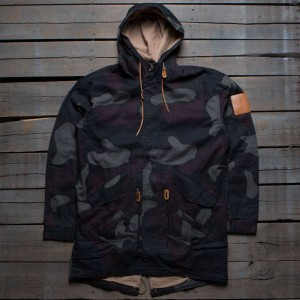 Akomplice Men Overdye Camo Trench Coat (camo)