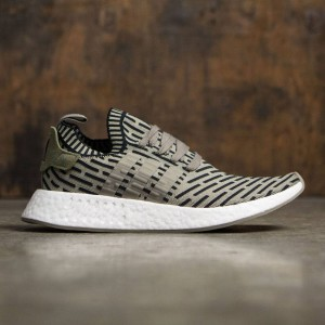 Adidas Men NMD R2 Primeknit (green / trace cargo / core black)