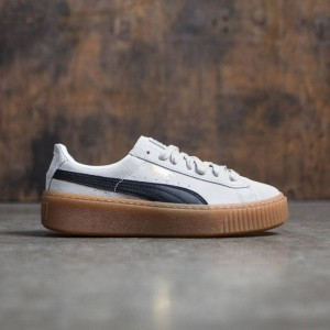 Puma Women Suede Platform (white / black)