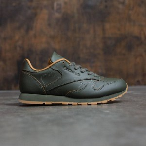 Reebok x Kendrick Lamar Big Kids Classic Leather (olive / olive night / gum)