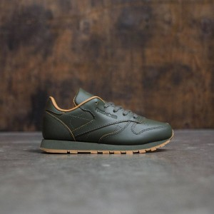 Reebok x Kendrick Lamar Little Kids Classic Leather (olive / olive night / gum)