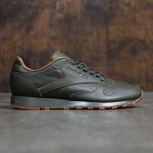 f9dc02a7969 Reebok x Kendrick Lamar Men Classic Leather Lux (olive   olive night   gum)
