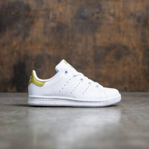 Adidas Little Kids Stan Smith (white / footwear white / gold metallic)