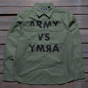Undefeated Men UNDFT BDU Long Sleeve Shirt (olive)