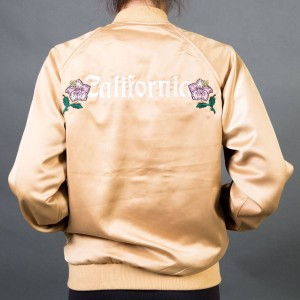 Stussy Women California Satin Jacket (gold)