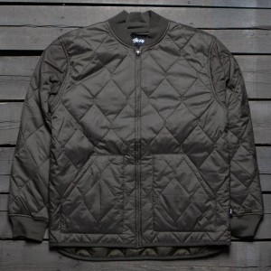 Stussy Men Quilted Military Jacket (olive)