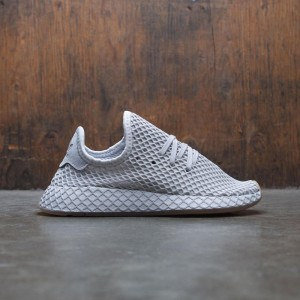 Adidas Big Kids Deerupt Runner J (gray / solid grey / gum)