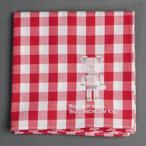 Medicom Toy 20th Anniversary Bearbrick Cross Stitch Handkerchief (red)