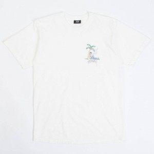 Stussy Men Rub A Dub Pigment Dyed Tee (white / natural)