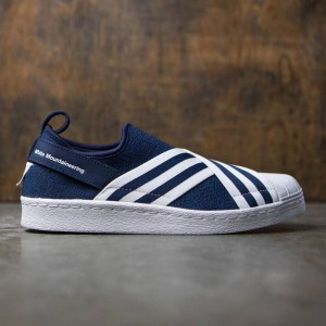Adidas Men White Mountaineering Superstar Slip-On Primeknit (navy / collegiate navy / footwear white)