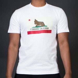 Medicom x Standard California Men Be@rtee Flag Tee (white)