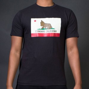 Medicom x Standard California Men Be@rtee Flag Tee (black)