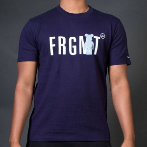 Medicom x Fragment Design Men Be@rtee FRGMT Tee (navy)