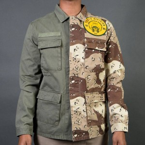 10 Deep Men Vintage Split Military Shirt (brown / camo / multi)