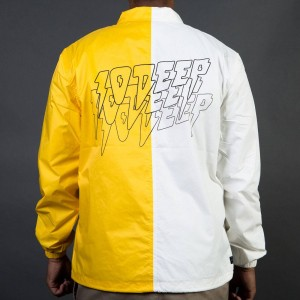 10 Deep Men Split Sound And Fury Jacket (yellow / white)