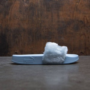 Puma x Fenty By Rihanna Women Fur Slides (blue / cool blue / silver)