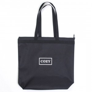 Team Cozy Cozy Box Tote Bag (black)