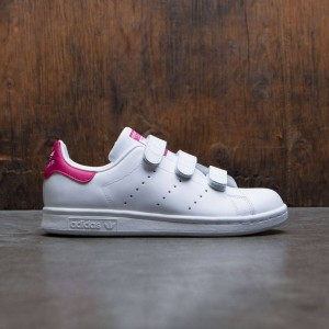 Adidas Big Kids Stan Smith CF J (white / footwear white / bold pink)
