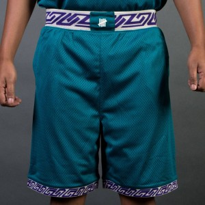 Undefeated Men Authentic Basketball Shorts (teal / green)