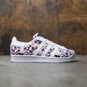Adidas Big Kids Superstar (multi / haze coral / footwear white / dust purple)