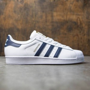 Adidas Men Superstar Foundation (white / collegiate navy / gold metallic)