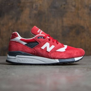 New Balance Men 998 Suede M998CRD - Made In USA (red / white)