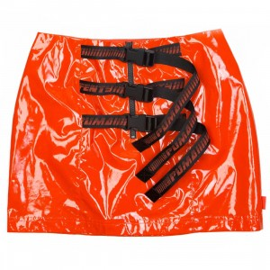 Puma x Fenty By Rihanna Women Belted Mini Skirt (red / orange tomato)