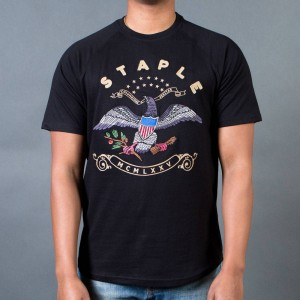 Staple Men Freedom Embroidered Tee (black)