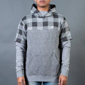 Staple Men Check Hoody (gray / heather)