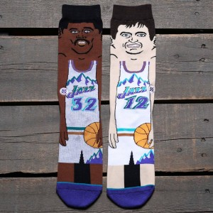 Stance x NBA Men Stockton Malone Socks (purple)