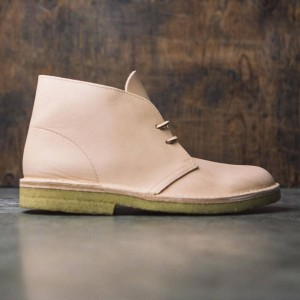 Clarks Men Premium Desert Boot - Natural Veg Tan Leather (brown)