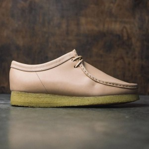 Clarks Men Premium Wallabee - Natural Veg Tan Leather (brown)