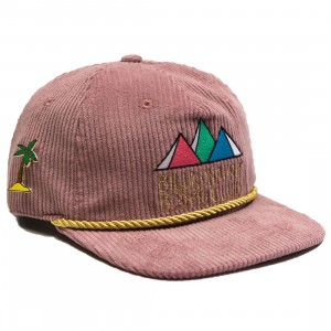 Billionaire Boys Club BB Pyramids Snapback Cap (purple / bordeax lavender)