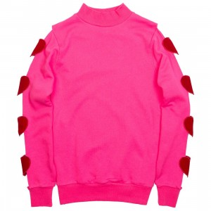 Lazy Oaf Women Heart Breaker Sweater (pink)