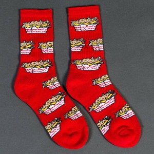 40s and Shorties Carnivore Fries Socks (red) 1S