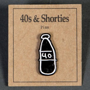 40s and Shorties Scribble Bottle Pin (black)