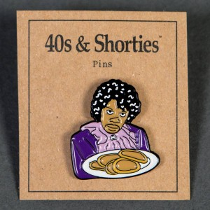 40s and Shorties Pancake Pin (purple)
