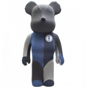 Medicom Loopwheeler 1000% Bearbrick (gray / blue)