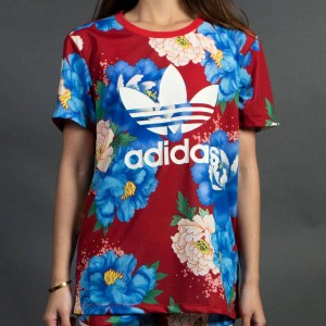 Adidas Women C BF Trefoil Tee (red)