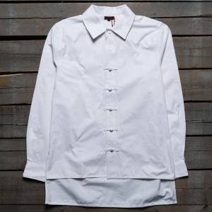 CLOT Men Chinese Button Up Shirt (white)