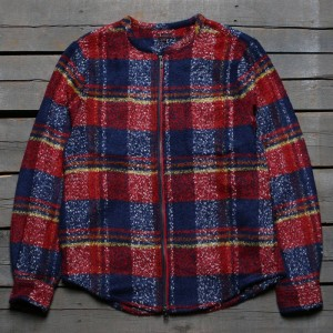 CLOT Men Heavy Duty Checker Shacket (red / blue)