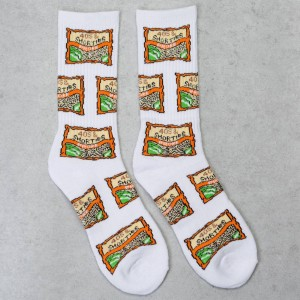 40s and Shorties Men Ramen Socks (white)