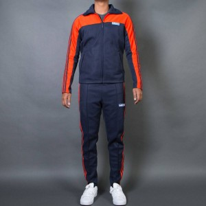 Adidas Men Originals OG Tracksuit (navy / legend ink / bold orange)