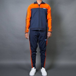 Adidas Men Knitted Tracksuit (orange / bold orange / legend ink)